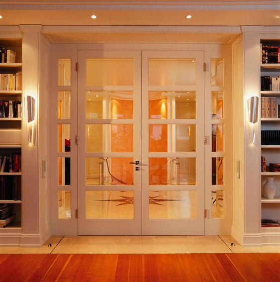 sprossent r mit zwei fl geln und 2 seitenteilen verglasung facettenbeschliffenes glas. Black Bedroom Furniture Sets. Home Design Ideas
