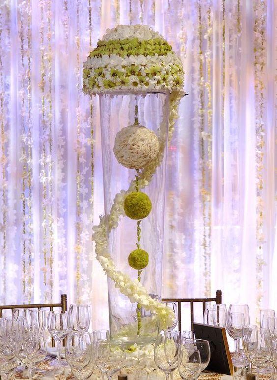 Sphere flower arrangements found on inspirations