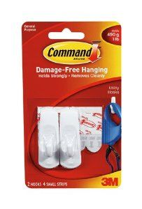 3M Command Hook with Adhesive Strip,1lb Capacity by 3M. $14.67. The mounting solution that holds firmly and removes cleanly. They leave no surface damage and are reusable, creating an easy and affordable way to organize and decorate.