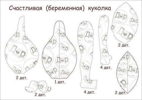 Счастливая беременная куколка. Автор Татьяна Богатая (Оранчук). Выкройка.:
