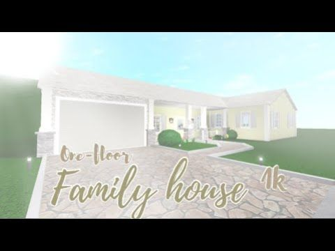 Roblox Bloxburg One Story Family House In 2020 Family House