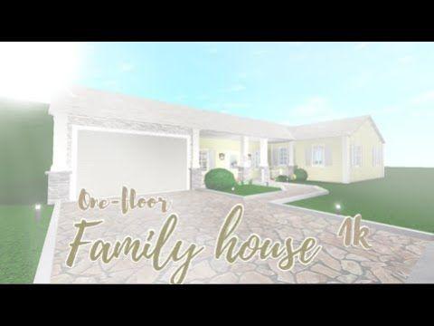 Bloxburg House Ideas Roblox One Floor Roblox Bloxburg One Story Family House Family House Story House One Story Homes
