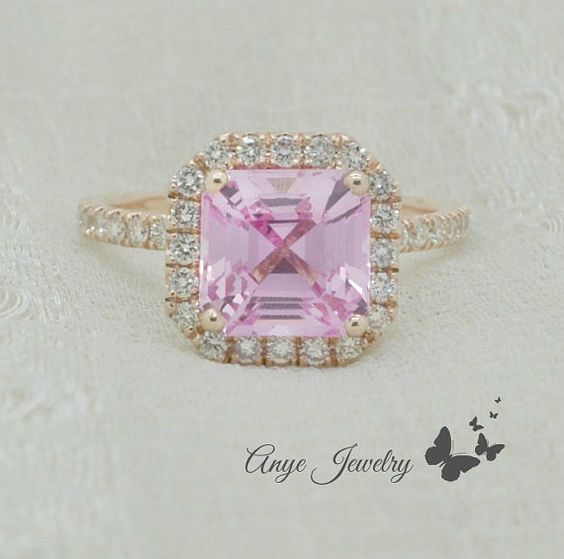 Hey, I found this really awesome Etsy listing at https://www.etsy.com/listing/223936506/160-ct-brilliant-asscher-cut-pink