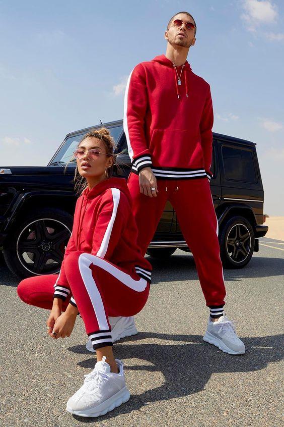 calça moletom masculina cor vermelha