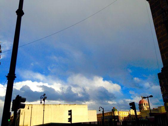 México city and the blue sky.