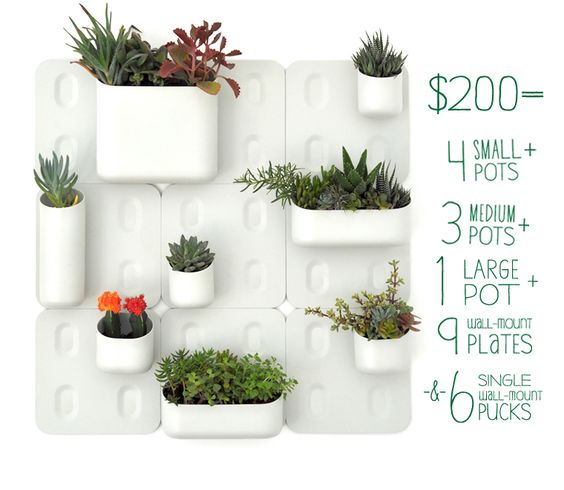 Great idea from Urbio. Project needs funding to get going. projected $200 for this setup.http://www.kickstarter.com/projects/1627079510/urbio-vertical-garden