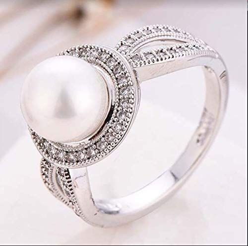 Two Tone 925 Silver filled Jewelry Women/'s Wedding Rings White Sapphire Size6-10