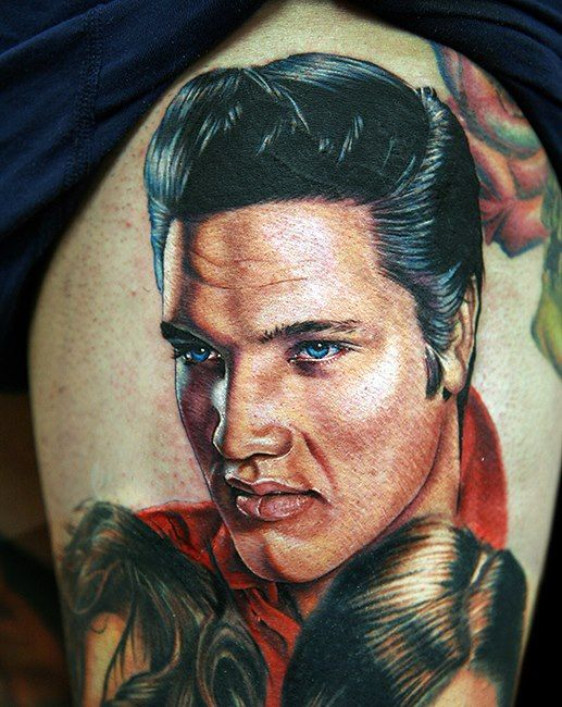 +++. . . Fantastic Elvis Tattoo by Cecil Porter