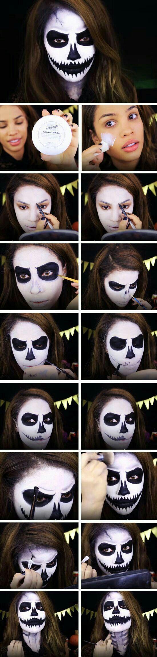 Kinderen schminken voor Halloween