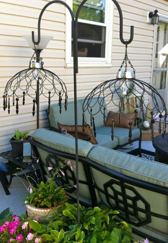Garden design Garden decorations solar plants chandelier