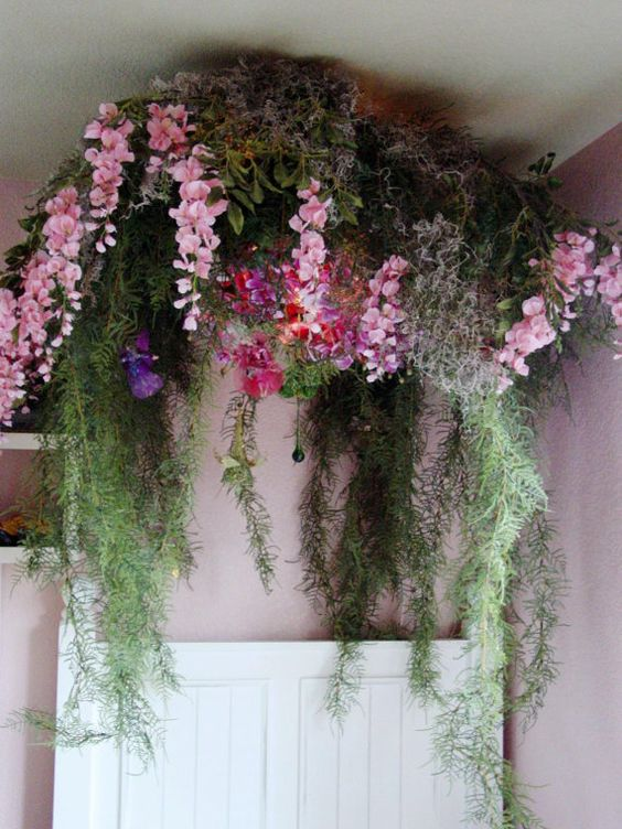 Canopy fairy forest for girls bedroom by authentiquehome for Fairy garden bedroom ideas