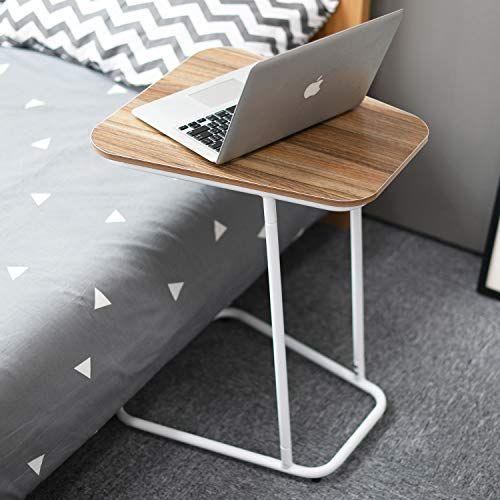 Soges Small End Table Sofa Side Snack Table Modern Coffee Table Nightstand Laptop Desk For Eating Reading Ideal For Living Room Dining Room Bedroom Oak Desk In Living Room Bedroom Night