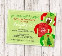 ugly christmas sweater party invitations - Google Search