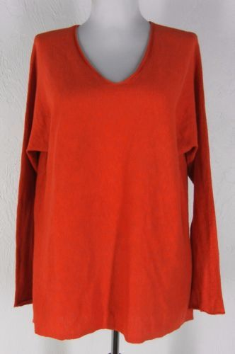 VINCE-100-Cotton-Knit-Pullover-Sweater-XS-S-M-Dolman-Sleeve-Thin-Oversized