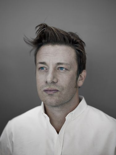 Jamie Oliver - I admire him, he's one of the few that try to stop the malpractices of the food industry.