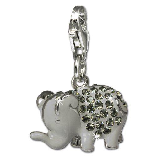 SilberDream Glitzer Charm Elefant grau Zirkonia Kristalle Anhänger 925 Silber für Bettelarmbänder Kette Ohrring GSC510K SilberDream http://www.amazon.de/dp/B004LT6FRS/ref=cm_sw_r_pi_dp_sFlDvb0GGB0Z3
