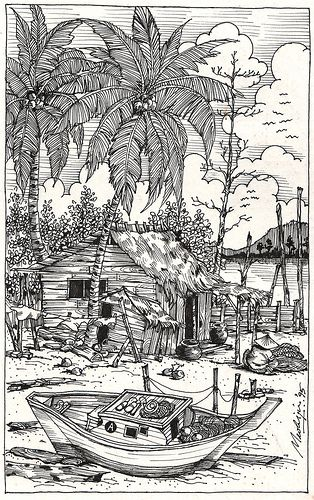 my village pictures coloring pages - photo#34