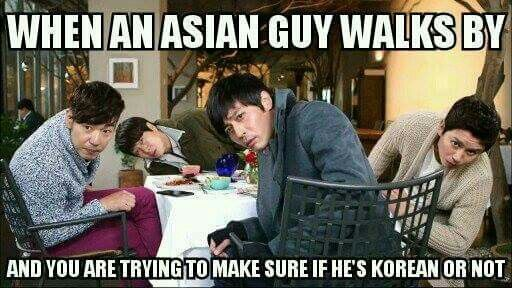"""I believe the correct way to say that is """"to see if he's Korean or not"""". But it's still true"""