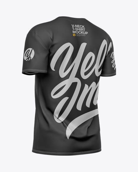 Download Men S V Neck T Shirt Mockup In Apparel Mockups On Yellow Images Object Mockups Shirt Mockup Tshirt Mockup Clothing Mockup
