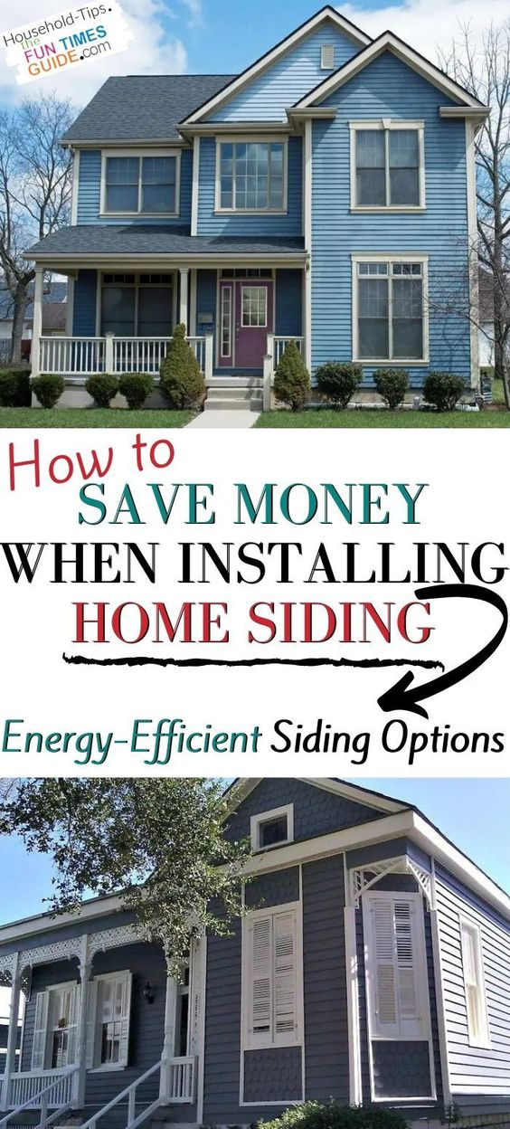 Save Money By Installing Better Home Siding The Best Low Maintenance Energy Efficient House Siding Options In 2020 Siding Options House Siding Options House Siding