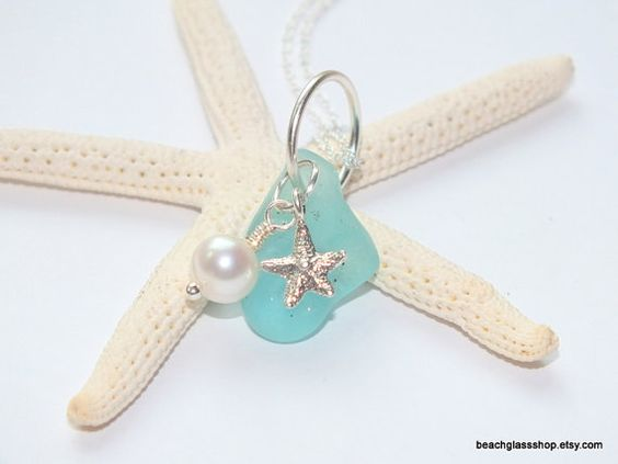 Sea Glass Beach Glass Lake Erie RARE Aqua Blue by beachglassshop, $38.00