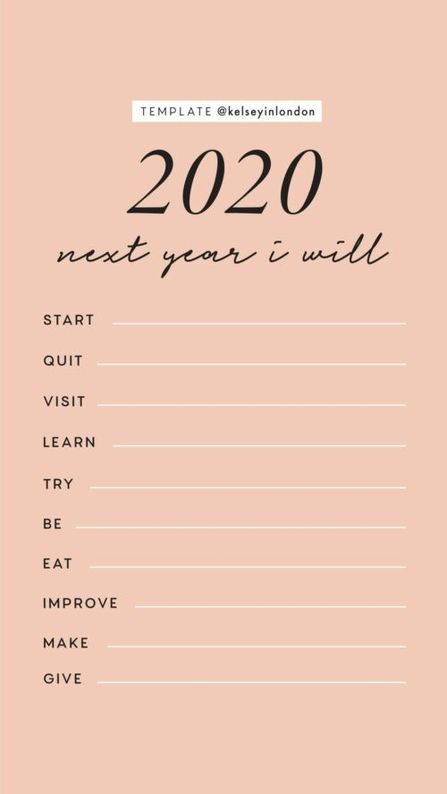 New Year Resolutions Instagram Story Templates Kelsey In London Instagram Story Templates Story Templates New Years Resolution New year resolutions templates