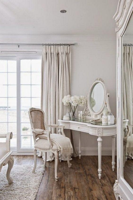 élégante shabby chic salon décoration