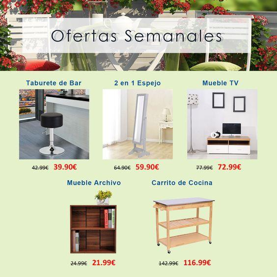 Te mostramos las Ofertas Semanales activas de esta semana. ¡Esperamos que os gusten!  <3  <3  <3  <3 Aquí! Aquí! ✋✋ www.aosom.es