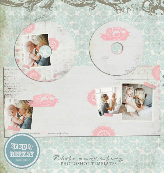 INSTANT DOWNLOAD Pro Photographers Cd  Dvd Label Templates Psd - abel templates psd