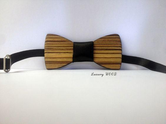 Pappillon di legno zebrano riciclato accessori mod von Luxury Wood auf DaWanda.com