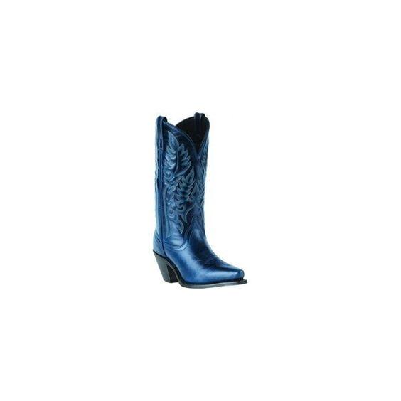 Navy Blue Cowgirl Boots (credit to vintagevictoriannikki) found on ...