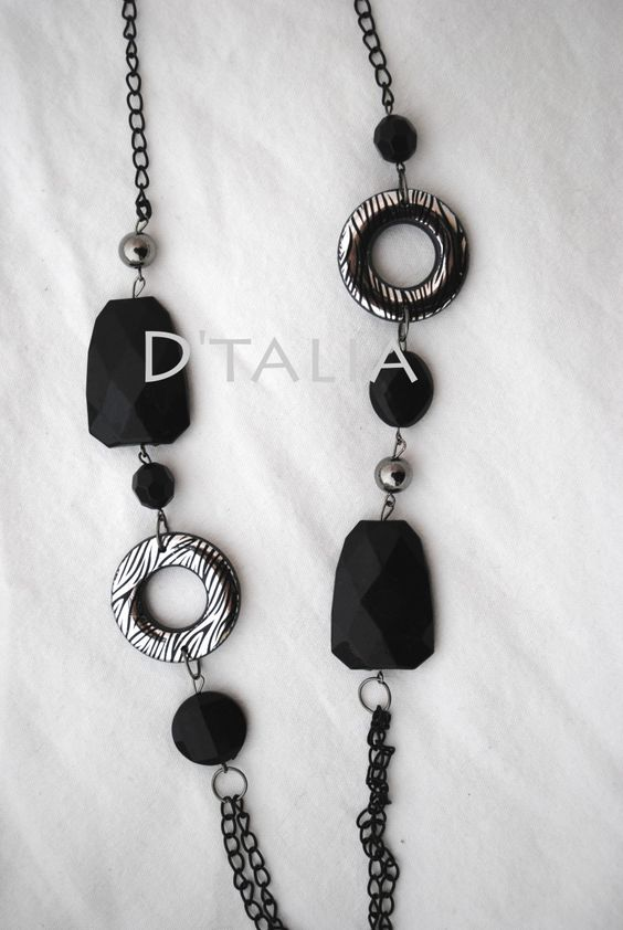 D'Talia - Black Stone and Silver Necklace, $15.00 (https://store-1a667.mybigcommerce.com/black-stone-and-silver-necklace/)