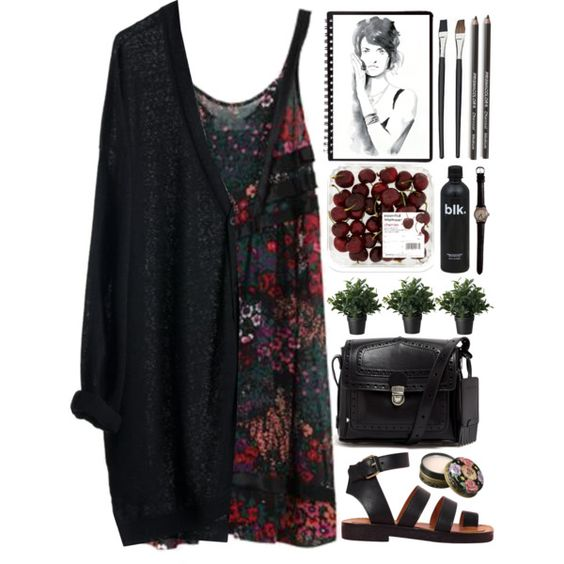 Floral darks outfit.: