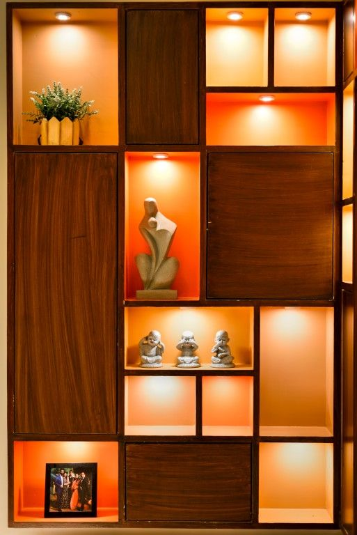 Apartment Design Geometric Twist With A Touch Of Elegance Mv Design Studio The Architects Diary Living Room Partition Design Wall Showcase Design Wall Decor Design