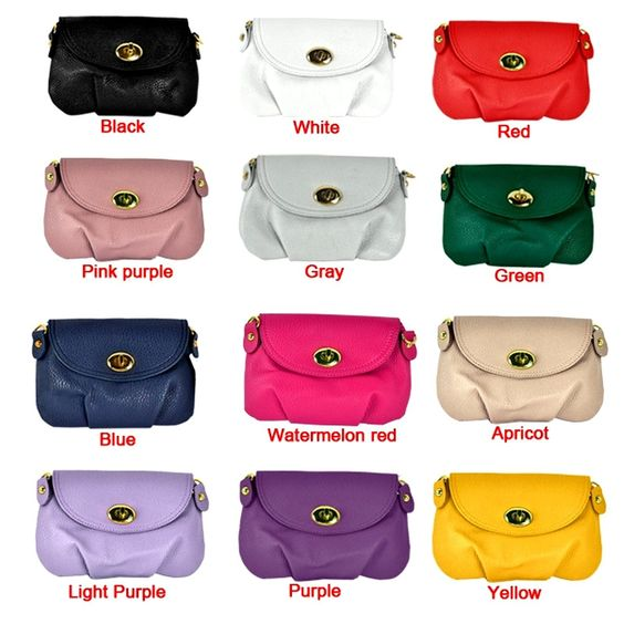 Product Description: New Fashion Woman's Satchel Shoulder / Cross Body Everyday Purse. Material: PU Leather, Net Weight: 142g, 9 Colors available: Pink purple, Green, Blue, Black, White, Red, Apricot,
