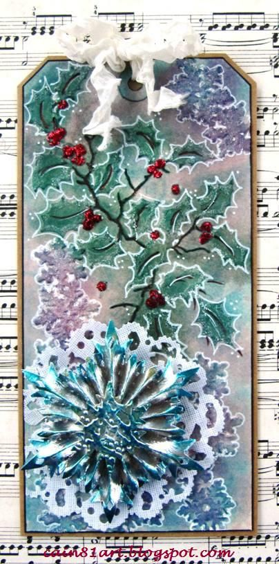 FRIENDS in ART: Silver Metal Snowflake Tag