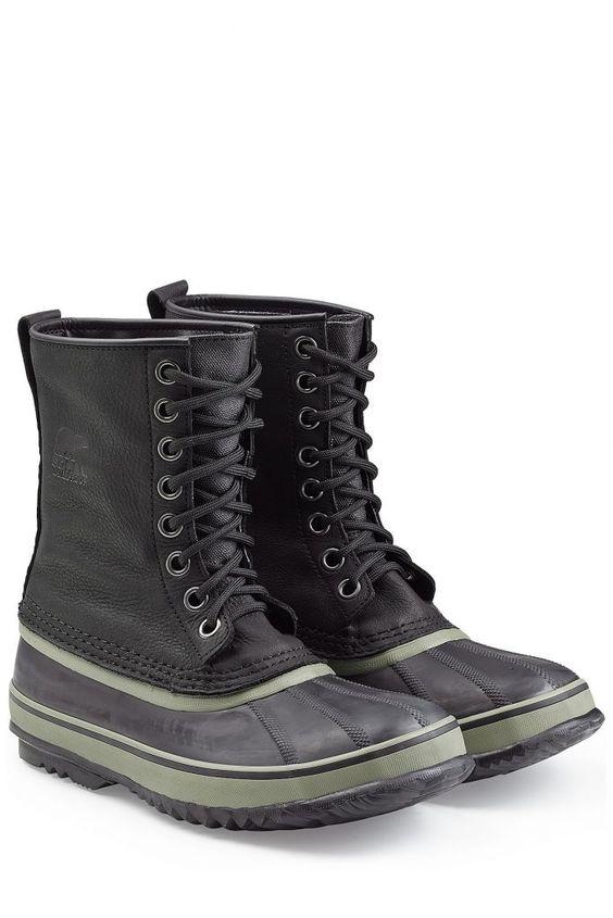 #Sorel #Wasserdichte #Winter, #Boots #1964 #Premium aus #Leder und #Gummi #, #Schwarz für #Herren Warme und trockene Füße bei Schnee und Eis? Sie machen es möglich: die stylishen Winter > Boots 1964 Premium von Sorel aus weichem geöltem Leder und Gummi mit einem Futter aus Wollfilz  >  Gummi und geöltes Leder in Anthrazit, versiegelte Nähte, runde Zehenkappe mit Shell > Muster, schwarze Schnürsenkel, Logo > Prägung, Zugschlaufe, herausnehmbarer Innenstiefel aus Wollfilz  >  Innensohle aus…