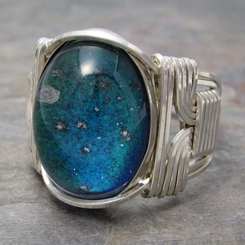 Color Changing Mood Cabochon Sterling Silver Wire by KimsJewels, $28.00