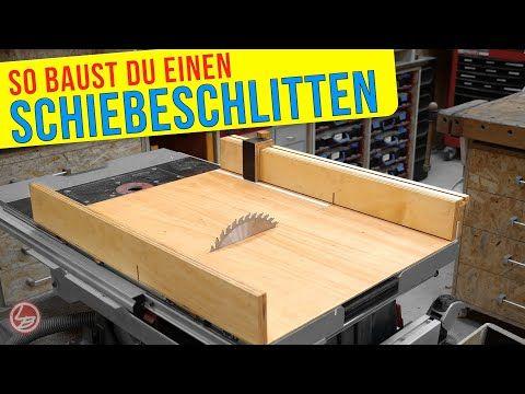 Schiebeschlitten Tischkreissäge selber bauen | Bastel Town