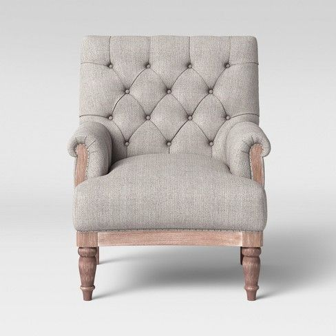 Alford Rolled Arm Tufted Chair Threshold Tufted Chair Tufted