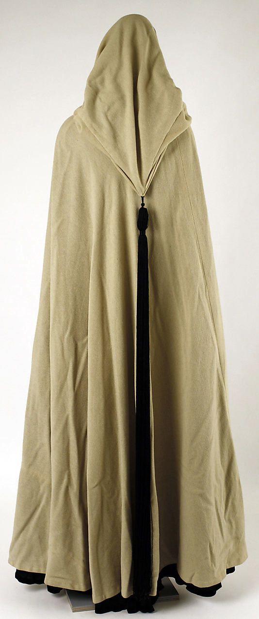 Evening cape Madeleine Vionnet (French, Chilleurs-aux-Bois 1876–1975 Paris) Date: 1936–37 Culture: French Medium: silk, wool
