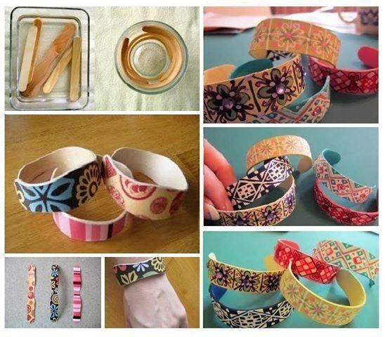 fabriquer bracelet baton de glace