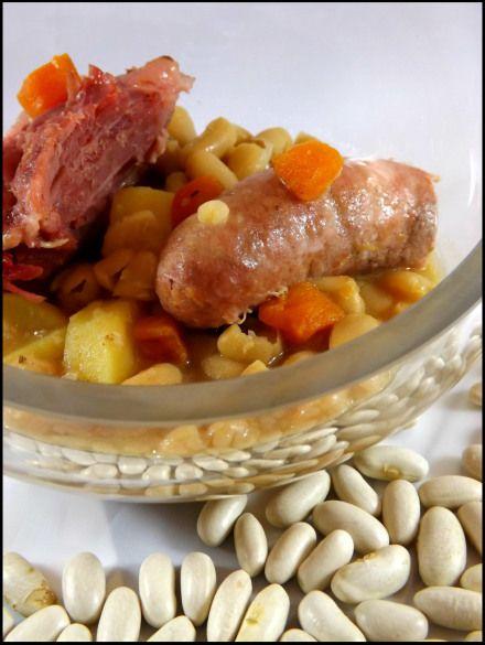 Saucisses de Toulouse jarret de porc et Mogettes au cookéo