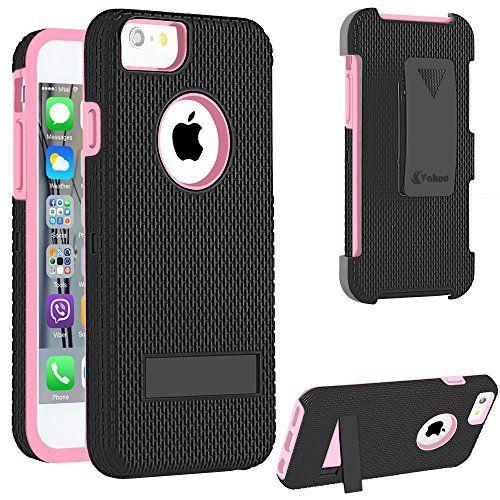 iPhone 6 hülle, Vakoo® [Ultra-Schutz] iPhone 6 hülle Stoßfest Rutschfest Hartschale Armor Case [Dual Layer] Etui mit Ständer und Gürtelclip Schutzhülle für Apple iPhone 6 (4.7 Zoll), Pink/Schwarz Vakoo http://www.amazon.de/dp/B00XMZIA02/ref=cm_sw_r_pi_dp_.sWqwb1TXE9KD