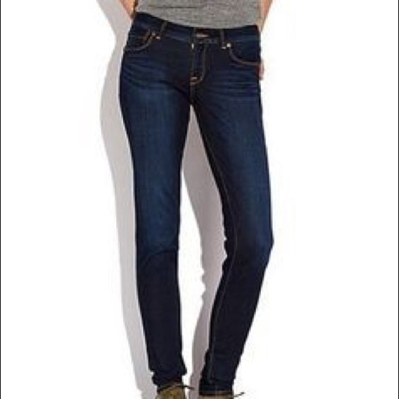 Lolita Skinny - straight leg jeans dark wash and high quality :) not very worn Lucky Brand Jeans Straight Leg