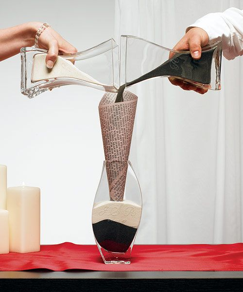Sand Pouring Unity Ceremony Wedding Idea Creative Way To Pour The Without Using A Plastic Funnel Maybe Use Page Of Poetry Or Scripture
