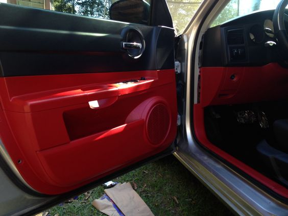 red plasti dip applied to the interior of dodge charger of will weathersby rolltide. Black Bedroom Furniture Sets. Home Design Ideas