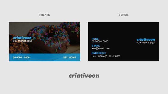 cartão de visita donuts