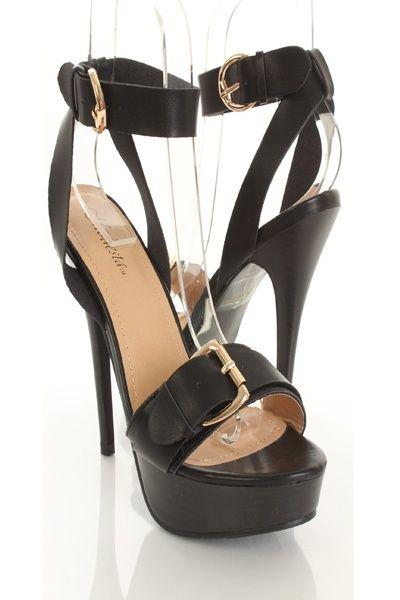 Black Faux Leather Buckle Strap Platform Heels http://www.amiclubwear.com/shoes-heels-sf-appo-03blackpu.html#