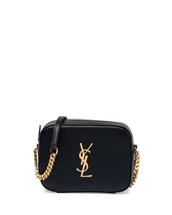 ysl belle de jour clutch replica - Yves Saint Laurent Monogram Camera Crossbody Bag, Black, Women's ...